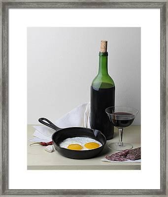 Still Life With Eggs Framed Print by Krasimir Tolev