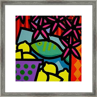 Still Life With Fish Framed Print by John  Nolan