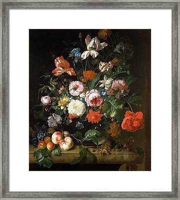 Still Life With Flowers  Framed Print