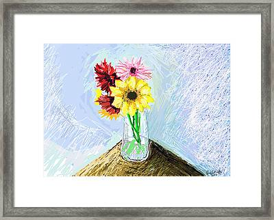 Still Life With Flowers Framed Print by Paul Sutcliffe