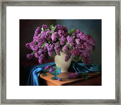 Still Life With Fragrant Lilac Framed Print