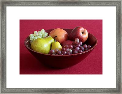 Still Life With Fruit Framed Print by Joe Kozlowski