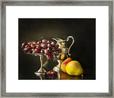 Still Life With Fruit Framed Print by Theresa Tahara