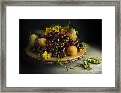 Still Life With Fruits And Pepper Framed Print