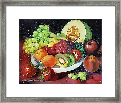 Still Life With Fruits Framed Print