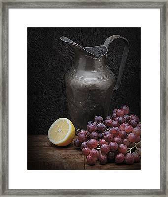 Framed Print featuring the photograph Still Life With Grapes by Krasimir Tolev