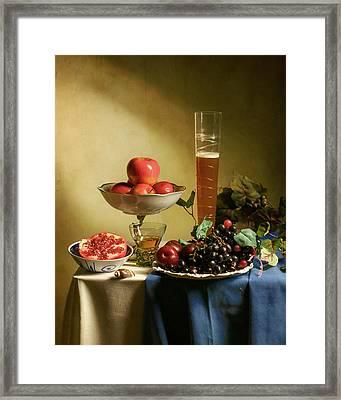 Still Life With Grapes  Framed Print