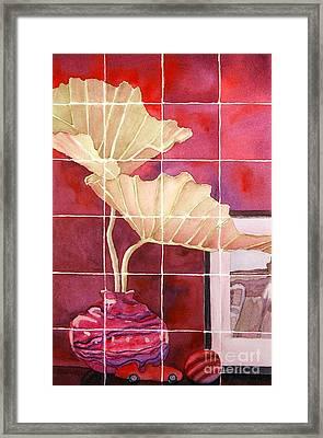 Still Life With Grid Framed Print by Gwen Nichols