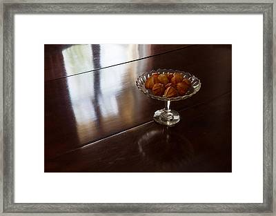 Still Life With Japanese Lantern Husks Framed Print by Georgia Mizuleva