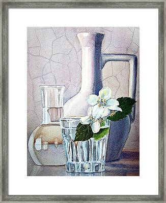 Still Life With Jasmine Framed Print by Irina Sztukowski