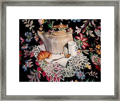 Still Life With Lace Framed Print by Constance Drescher