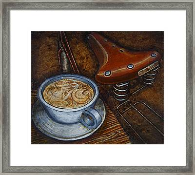 Still Life With Ladies Bike Framed Print by Mark Jones