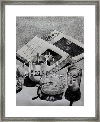 Still Life With Lawrence Framed Print