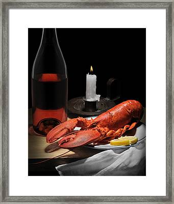 Framed Print featuring the photograph Still Life With Lobster by Krasimir Tolev