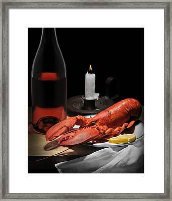 Still Life With Lobster Framed Print by Krasimir Tolev