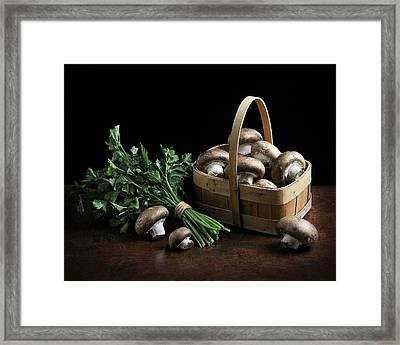 Still Life With Mushrooms Framed Print by Krasimir Tolev