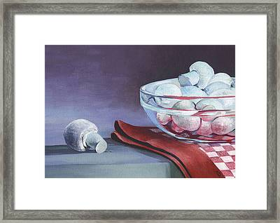 Framed Print featuring the painting Still Life With Mushrooms by Natasha Denger