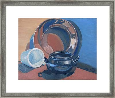 Still Life With Native American Reflections Framed Print