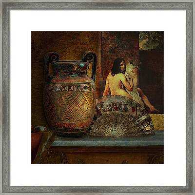 Still Life With Nude Framed Print by Jeff Burgess