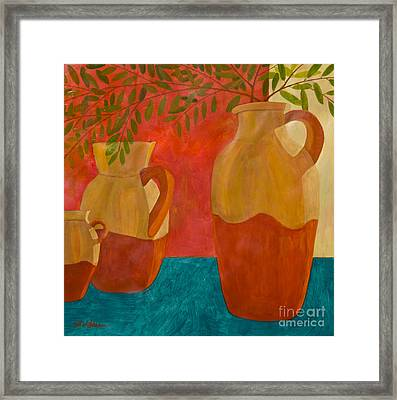 Still Life With Olive Branches II Framed Print