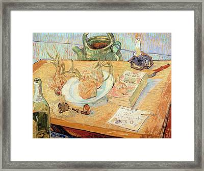 Still Life With Onions Framed Print by Vincent van Gogh