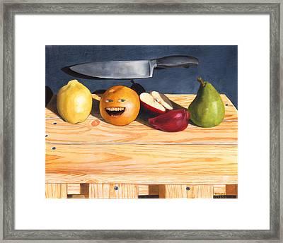 Still Life With Orange No. 2 Framed Print