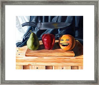 Still Life With Orange No. 3 Framed Print