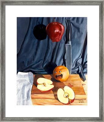 Still Life With Orange  No. 4 Framed Print