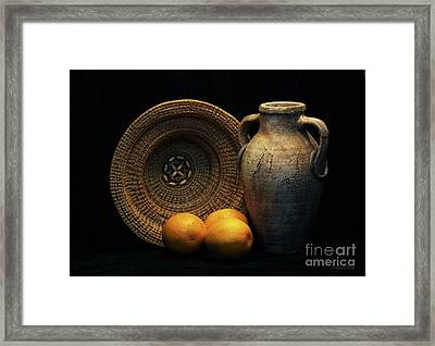 Framed Print featuring the photograph Still Life With Oranges by Dodie Ulery
