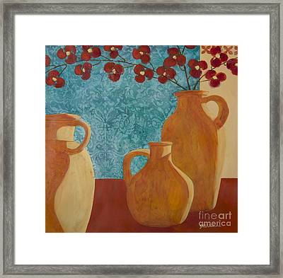 Still Life With Orchids II  Framed Print
