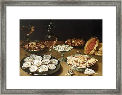 Still Life With Oysters Framed Print by Osias the Elder Beert