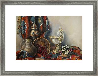 Still-life With Pansies Framed Print by Tigran Ghulyan