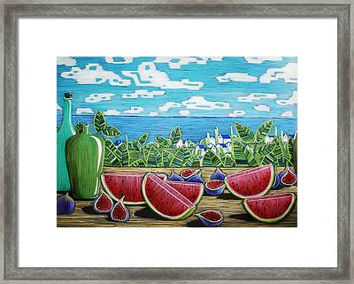Still Life With Pear Framed Print by Alesya Von Meer