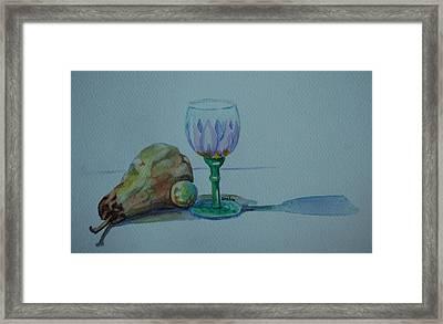 Still Life With Pear Framed Print by Venetia Bebi
