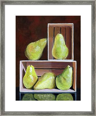 Still Life With Pears Framed Print by Karyn Robinson