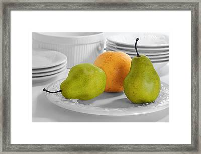 Framed Print featuring the photograph Still Life With Pears by Krasimir Tolev