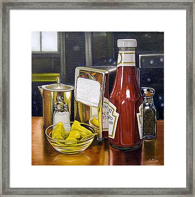 Still Life With Peppers Framed Print by Vic Vicini