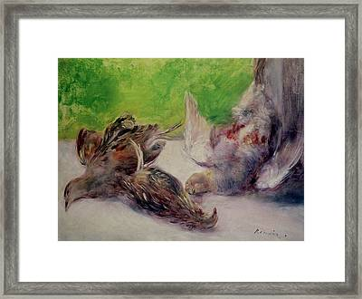 Still Life With Pheasants  Framed Print
