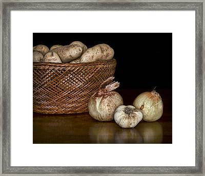 Still Life With Potatoes And Aromatics #2 Framed Print by Nikolyn McDonald