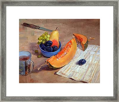 Still Life With Pumpkin Framed Print