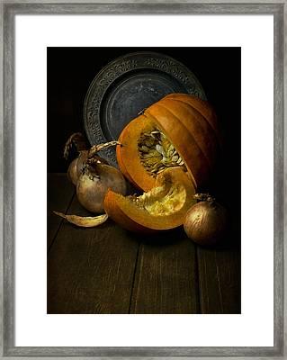 Still Life With Pumpkin Framed Print by Jaroslaw Blaminsky