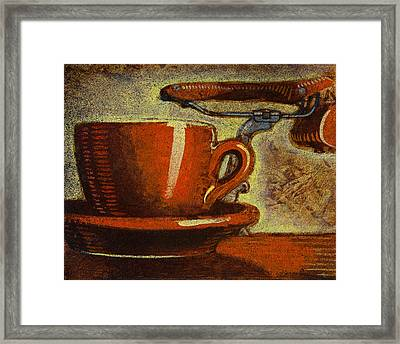 Still Life With Racing Bike Framed Print