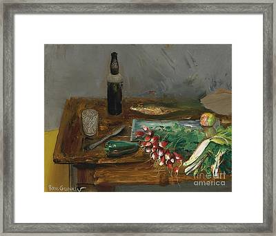 Still Life With Radishes Framed Print by Celestial Images