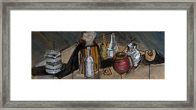 Still Life With Reg Jug Framed Print by Tina Pitsiavas