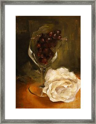 Still Life With Rose Framed Print