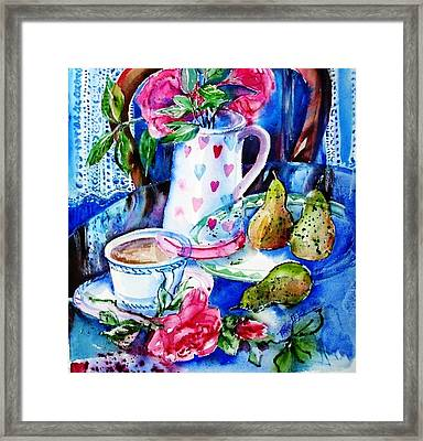 Still Life With Roses  Framed Print by Trudi Doyle