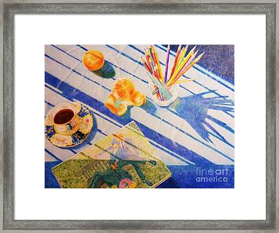 Still Life With Shade Framed Print