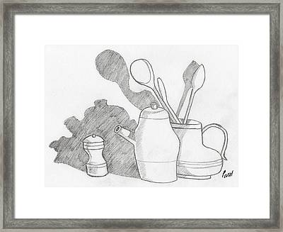Still Life With Shadows Framed Print by Bav Patel