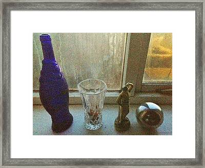 Still Life With Silver Ball Framed Print by John Parsons