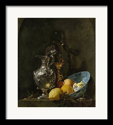 Still Life With Old Pitcher Paintings Framed Prints